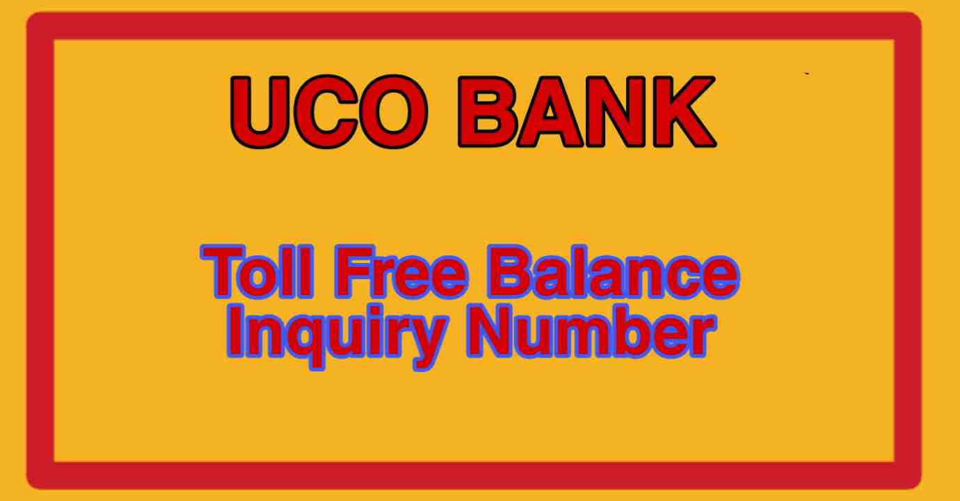 uco bank toll free number