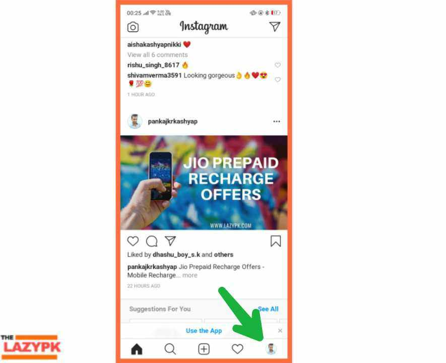 How to delete instagram account in hindi